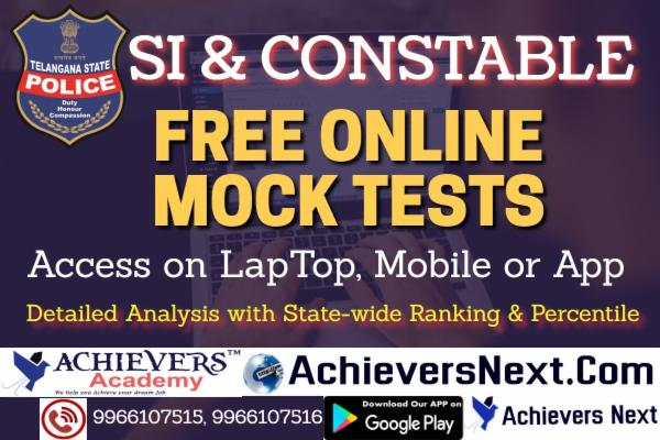 TS SI & PC FREE ONLINE MOCK TESTS cover