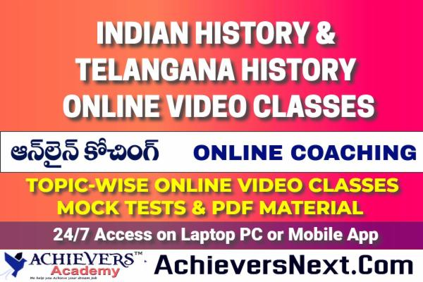 Indian History & Telangana History Online Classes cover